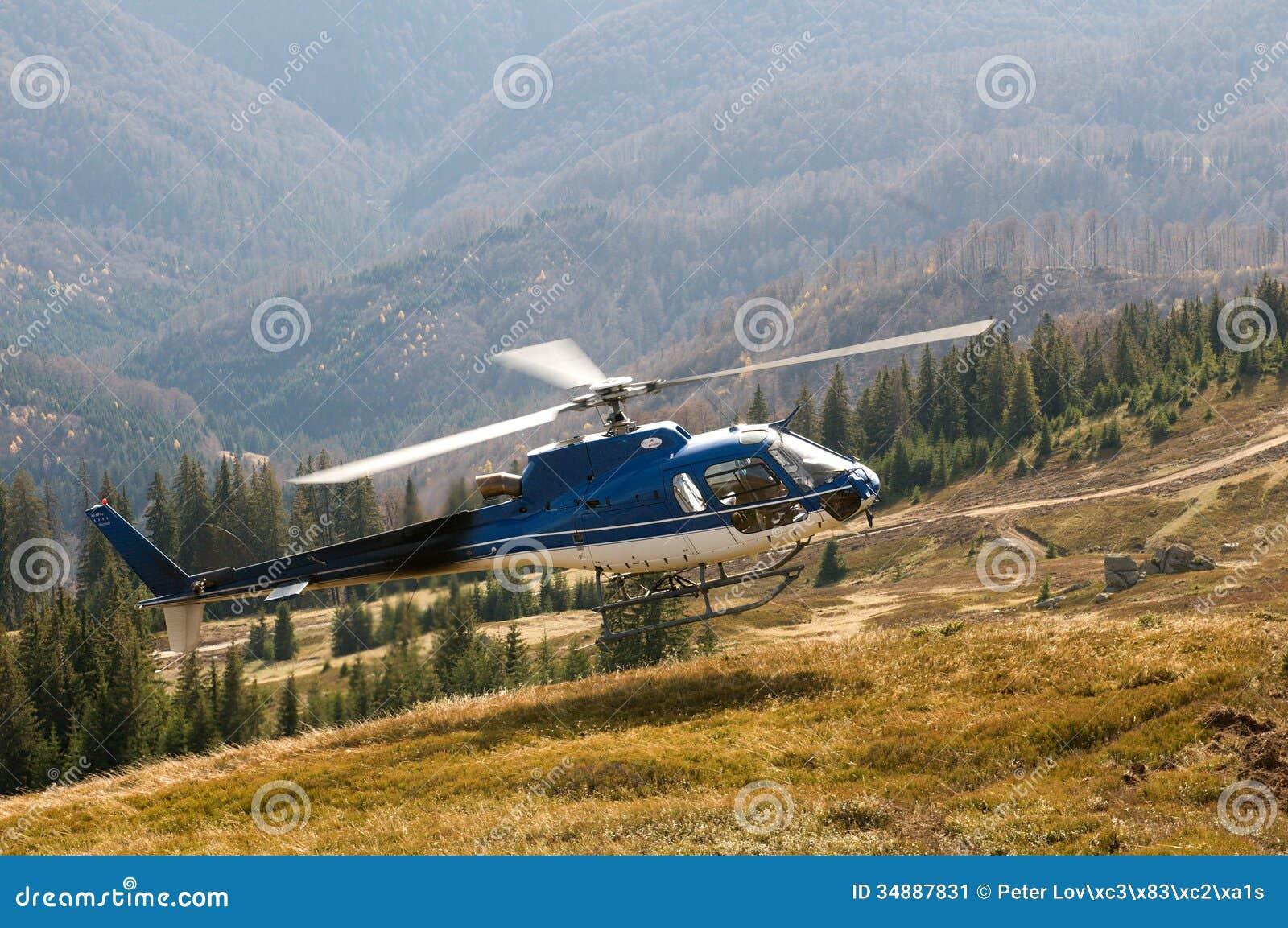 Elicottero B3 : Elicottero ecureuil as b durante l atterraggio fotografia