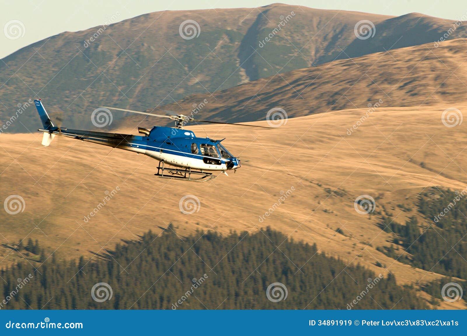 Elicottero B3 : Elicottero ecureuil as b in volo immagine stock editoriale