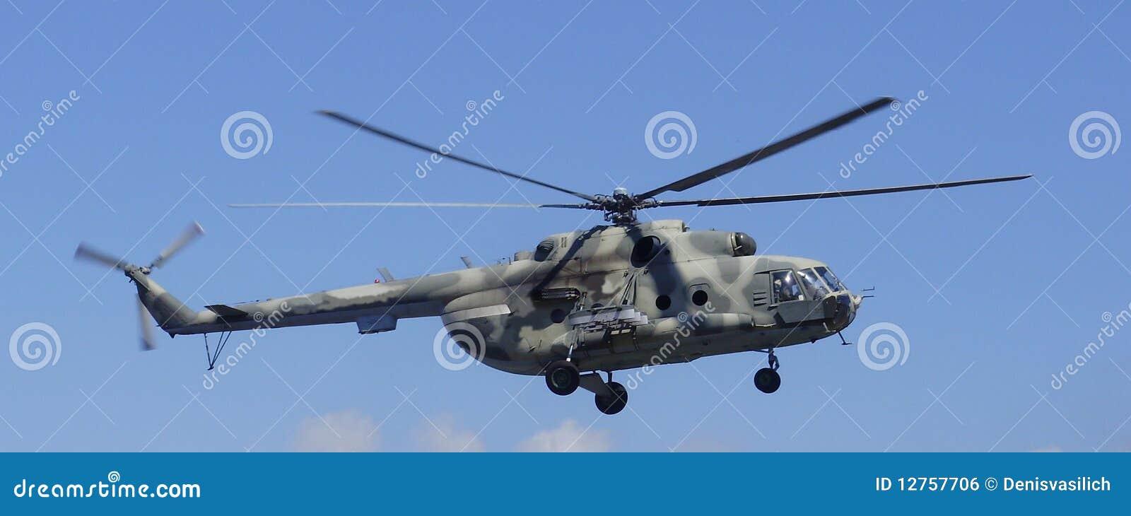 Elicottero 8 Posti : Elicottero mi nel cielo immagine stock libera da diritti