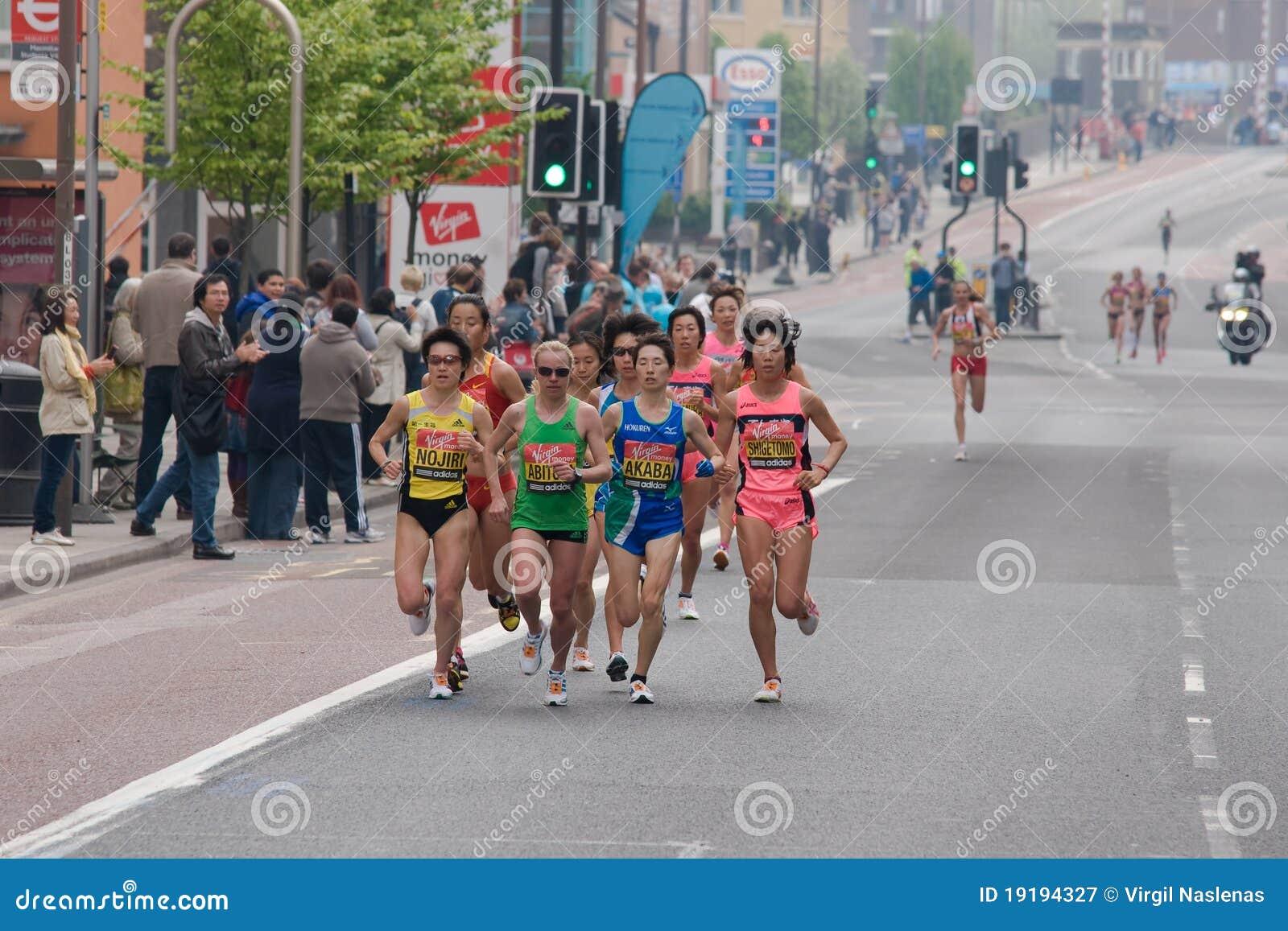 Elita grupy japońscy London maratonu setkarzi