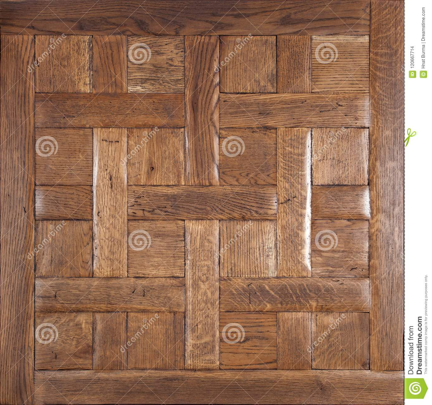 Elite Modular Parquet Natural Wooden Flooring With Luxury Texture And Pattern Top View