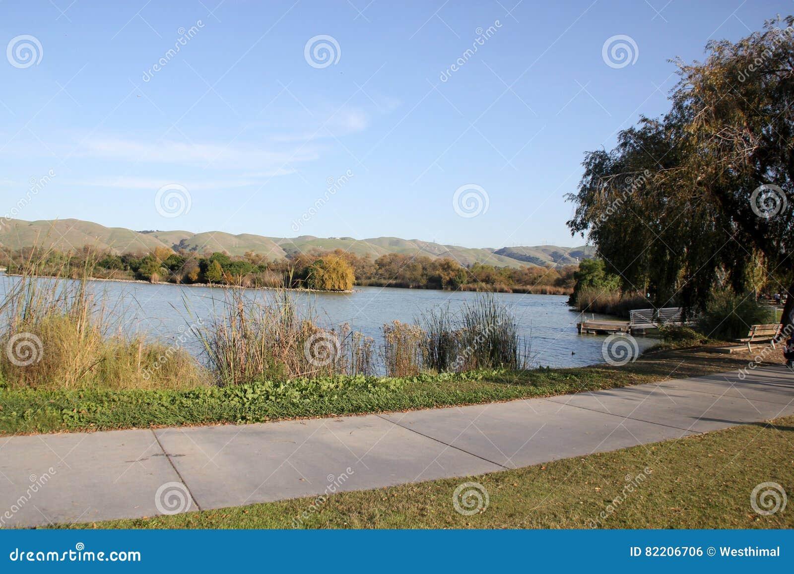 Elizabeth lake central park fremont california stock for Lake elizabeth fishing