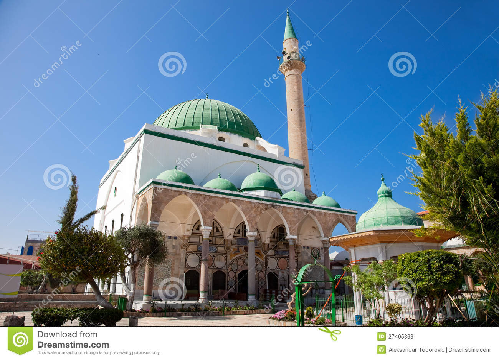 ElJazzar Akko的清真寺,以色列。