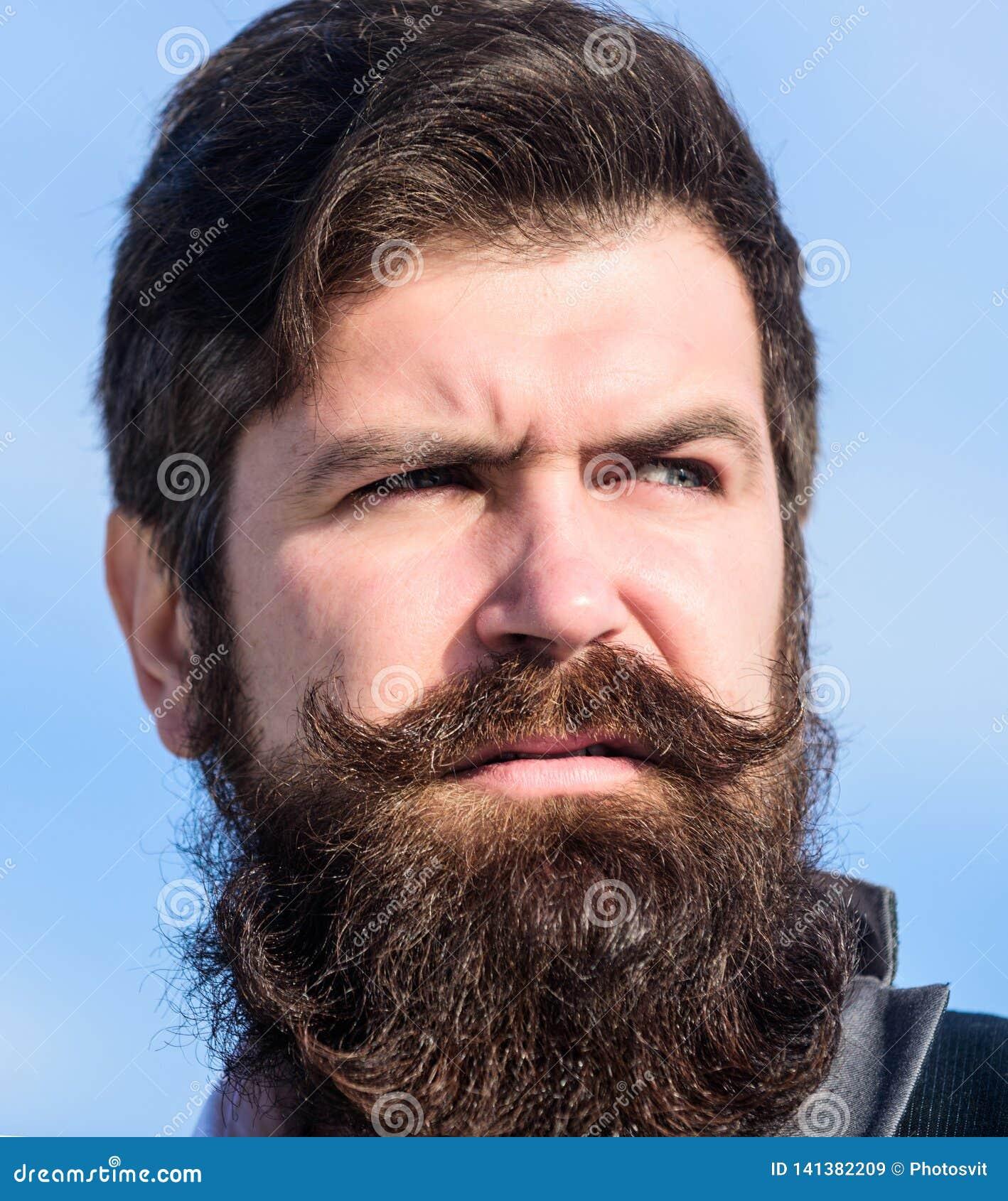 Elke volledig unieke baard Gezichts van de haarbaard en snor zorg Baardmodetrend Investeer in modieuze verschijning