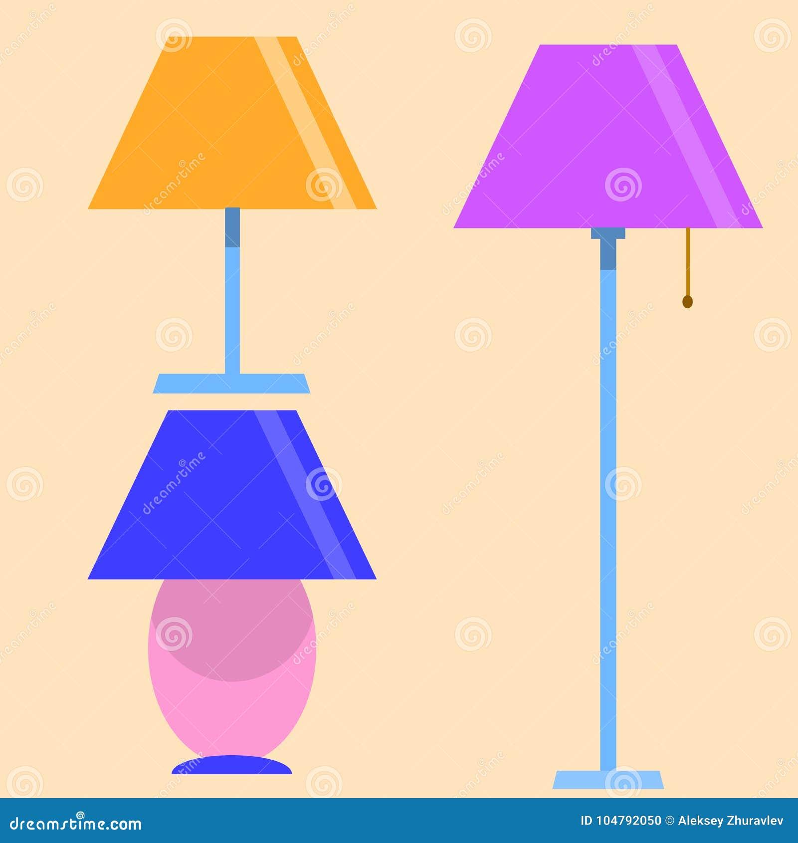 Elkraft för ljus för lampmöblemanguppsättning Modern garnering för elektricitetstabelllampor, klassisk ljus kula Energiinre