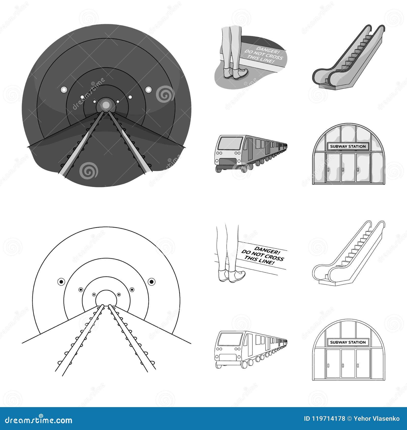 Elkraft, transport, utrustning och annan rengöringsduksymbol i översikten, monokrom stil Offentligt trans., machineryicons in