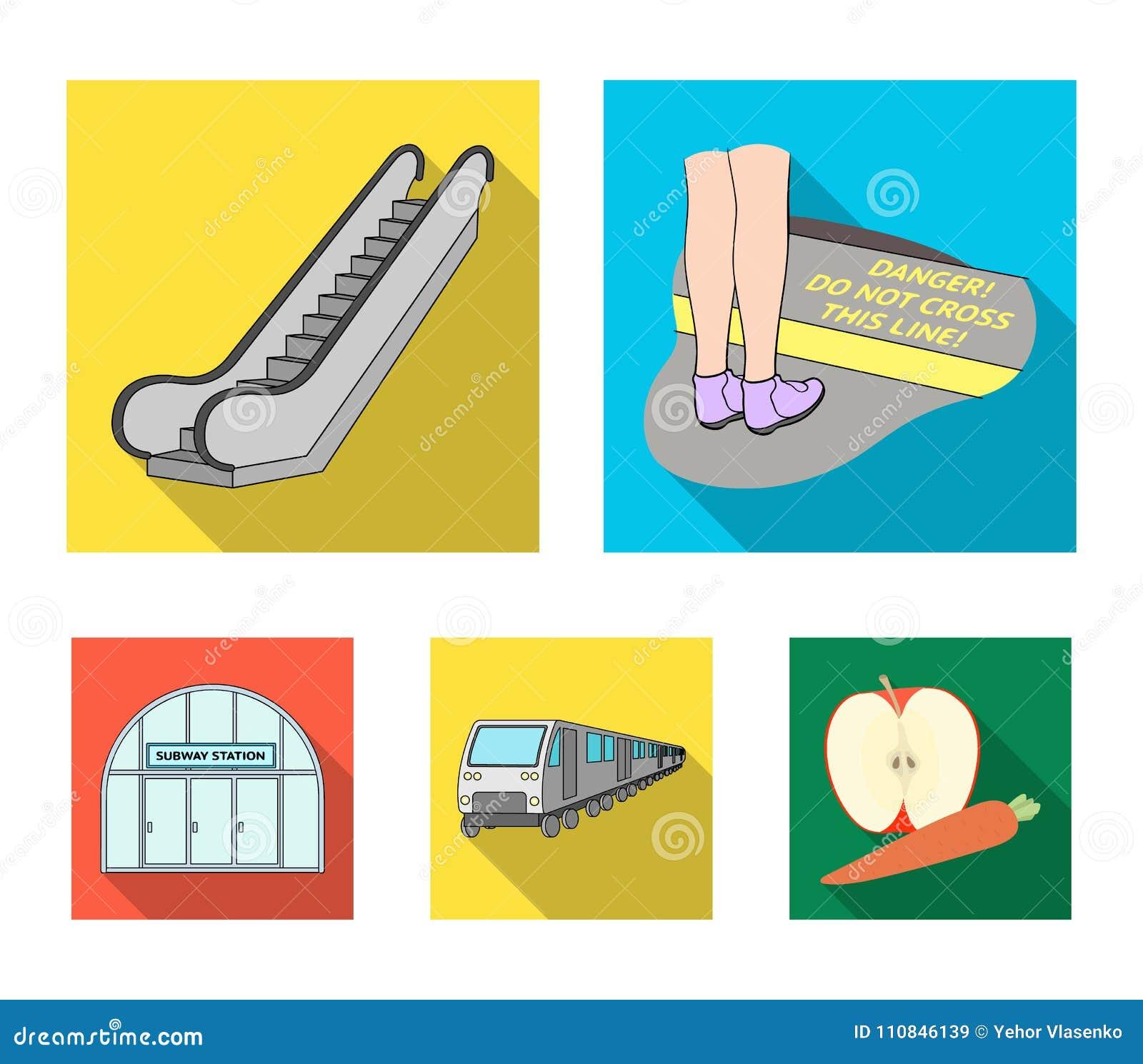 Elkraft, transport, utrustning och annan rengöringsduksymbol i plan stil Offentligt trans., machineryicons i uppsättningsamling