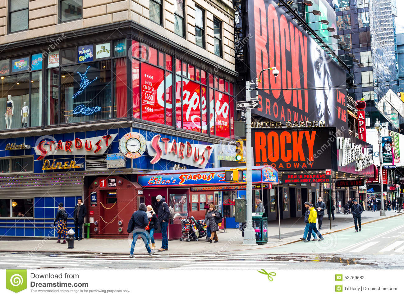 Ellen 39 s stardust diner times square editorial photography image 53769682 - Ellen show new york ...