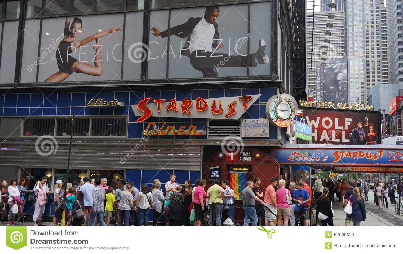 ellen 39 s stardust diner in times square new york editorial stock photo