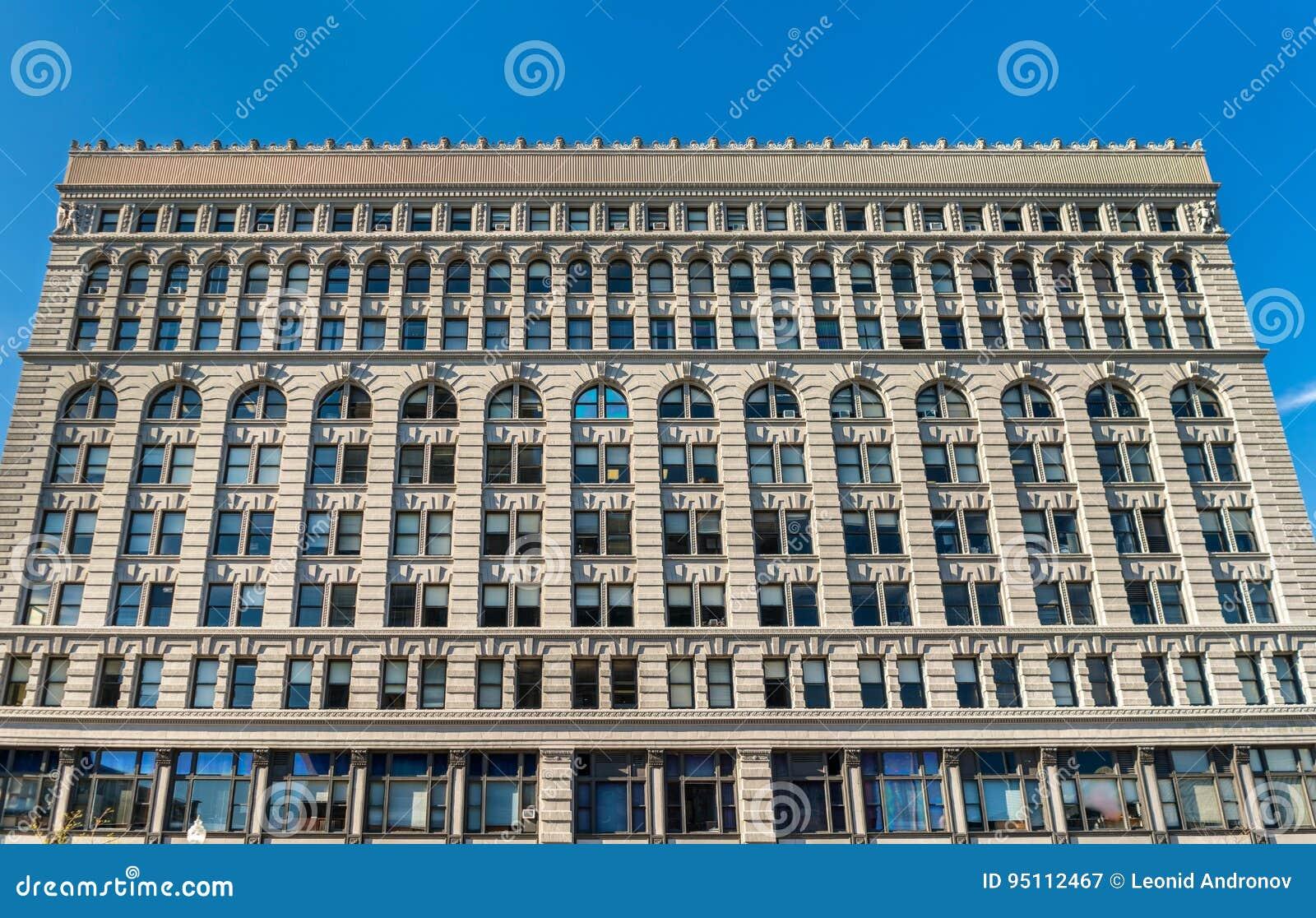 Ellicott fyrkantig byggnad, ett historiskt kontorskomplex som avslutas i 1896 Buffel - New York