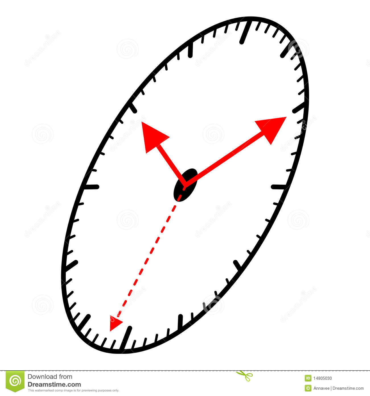Ellips Shaped Clock Stock Photo Image 14805030