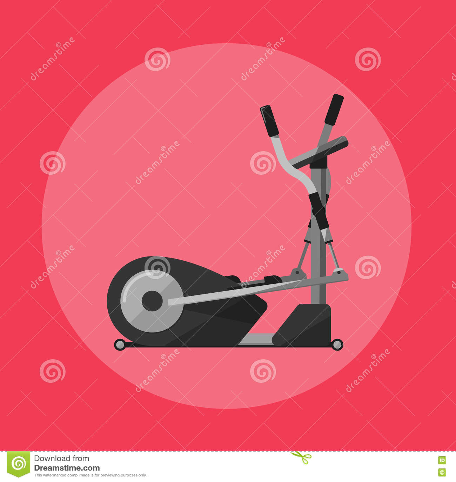 Elliptical Cross Trainer  Gym Sports Equipment Stock Vector