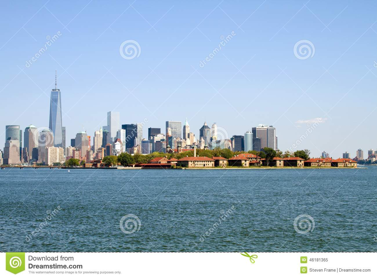 ellis island new york city stock image image of tourism 46181365. Black Bedroom Furniture Sets. Home Design Ideas