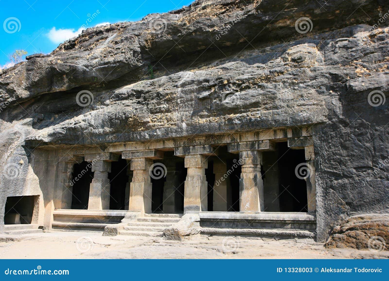 Ellora skała rzeźbił Buddyjską świątynię