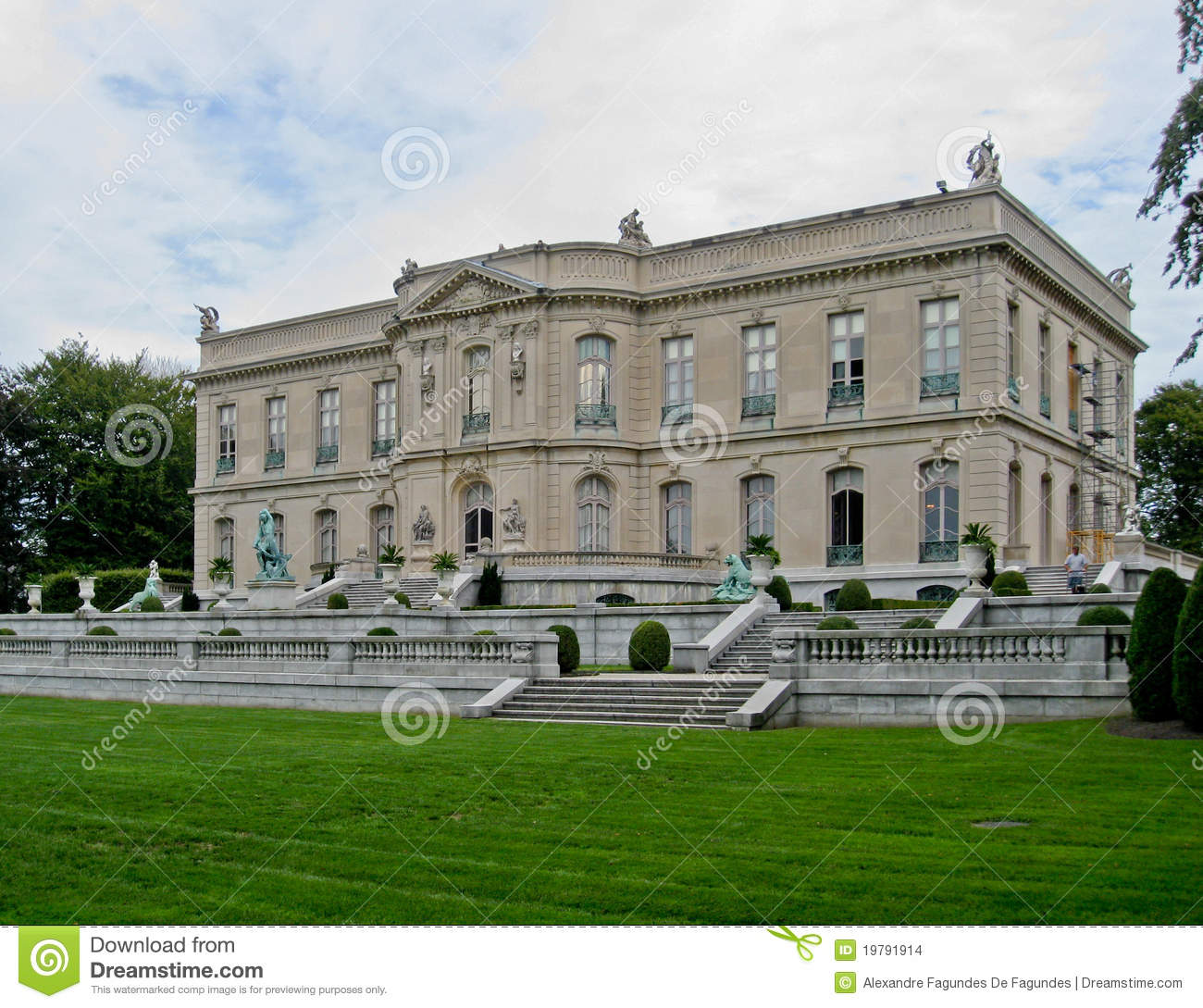 The Elms Newport Mansion Editorial Stock Image. Image Of