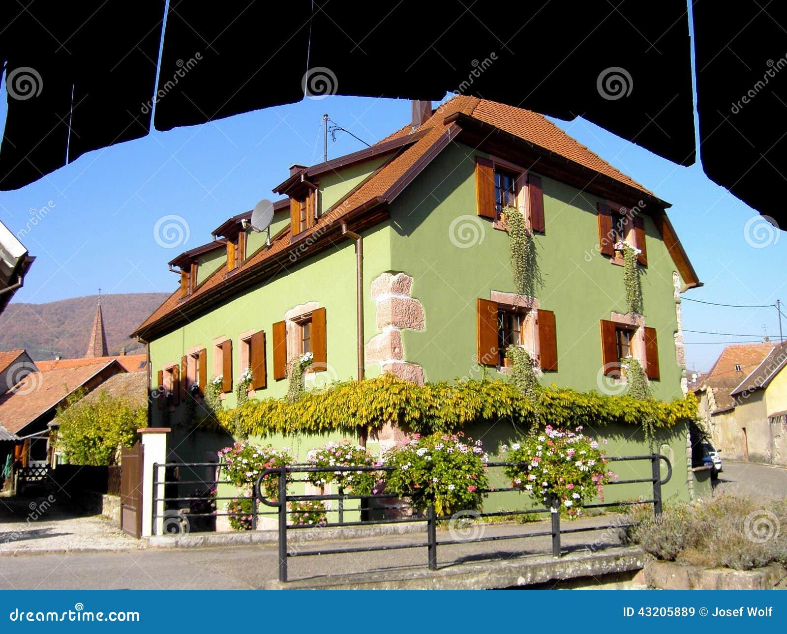 Download Elsass - Berkheim 9 fotografering för bildbyråer. Bild av wine - 43205889