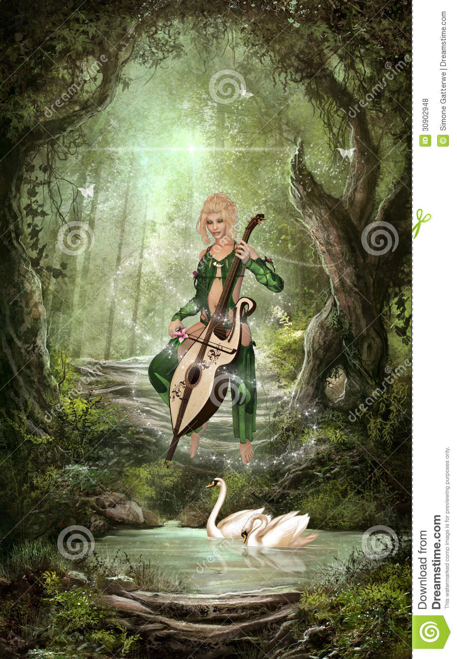 the elven forest royalty free stock photos image 30902948
