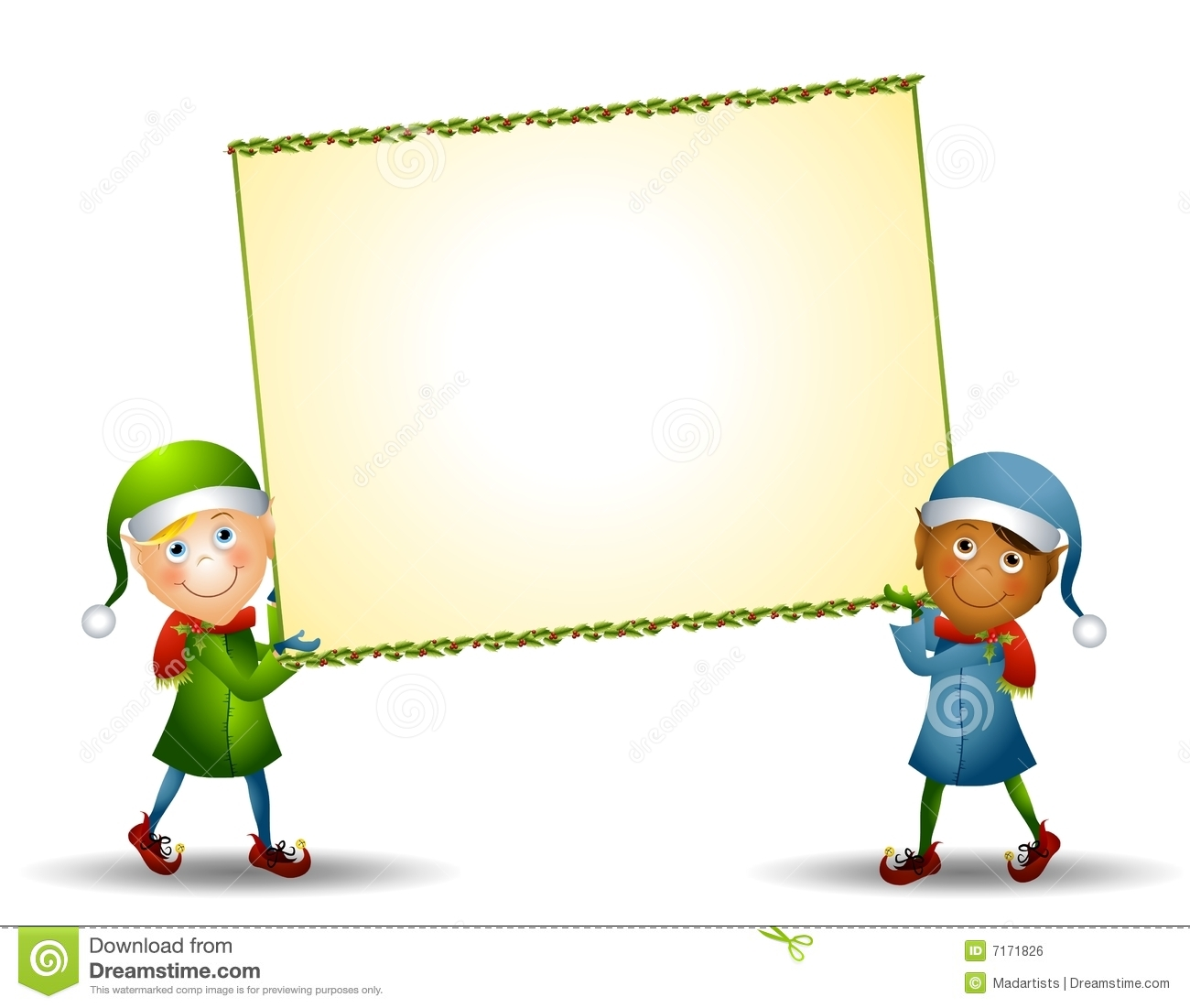 christmas elves and sign royalty free stock photography image