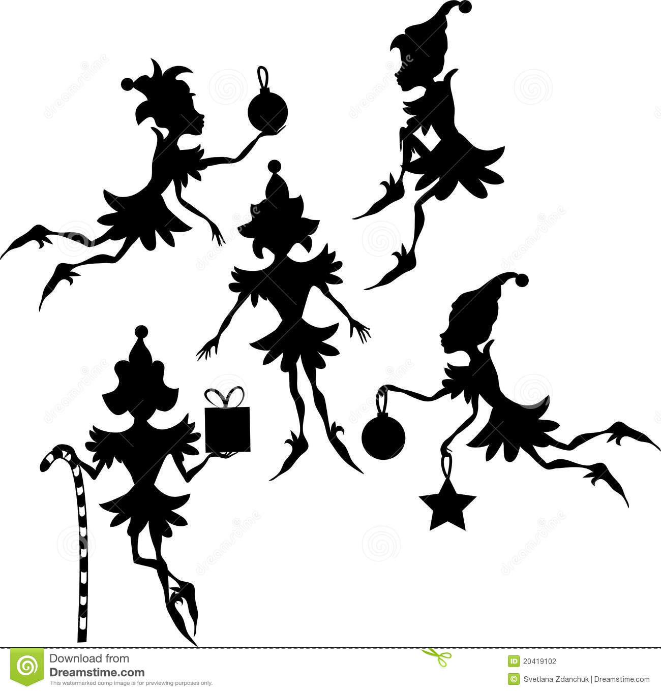 Elves Silhouettes Stock Photography Image 20419102