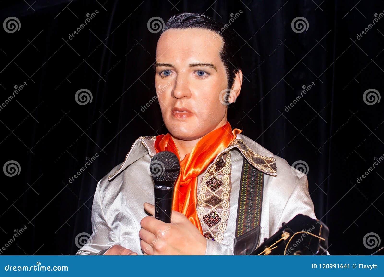 Elvis - królewiątko, wosk statua
