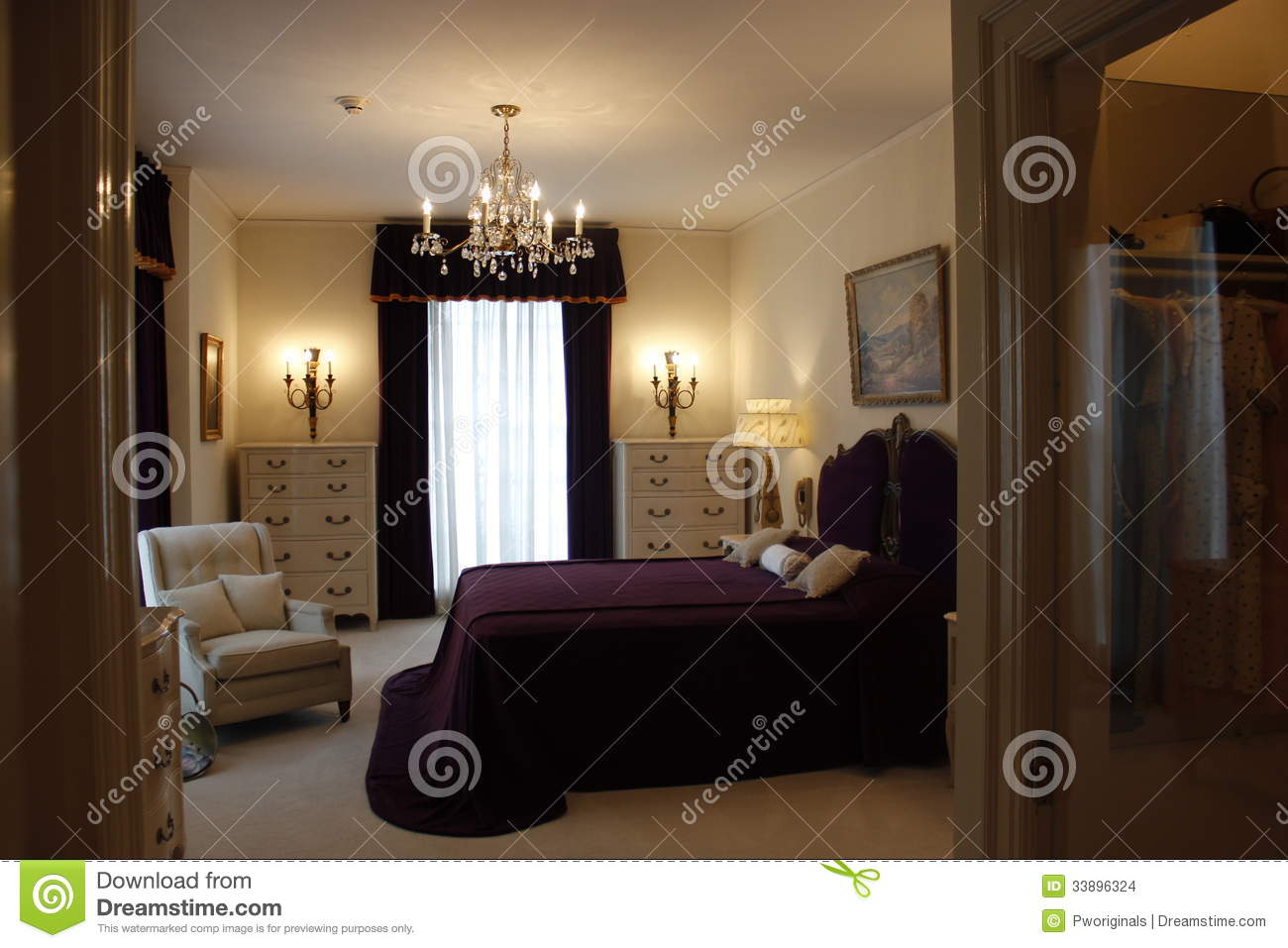 Elvis Presley Graceland Mansion Bedroom Editorial Stock Image Image 33896324