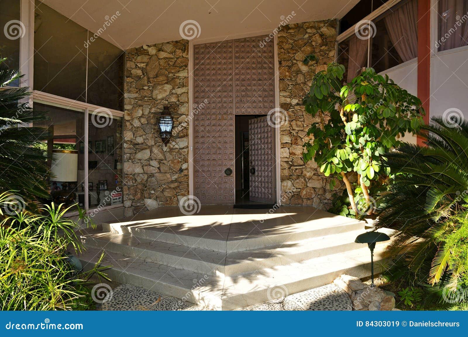 Elvis Presley ` s miesiąca miodowego dom, palm springs