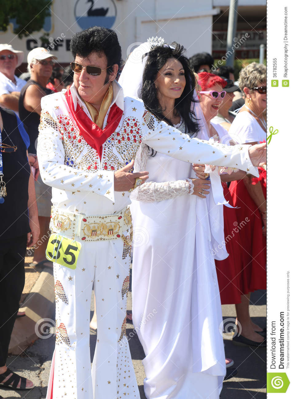 Elvis And Priscilla Editorial Image Image Of Jumpsuit