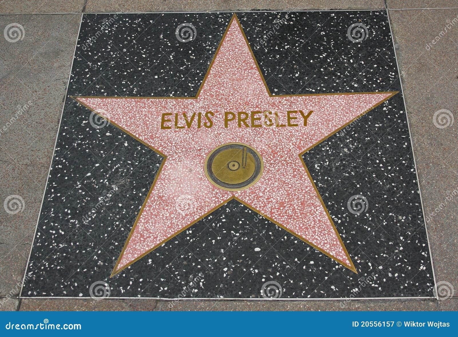 Elvis sławy Hollywood presley spacer