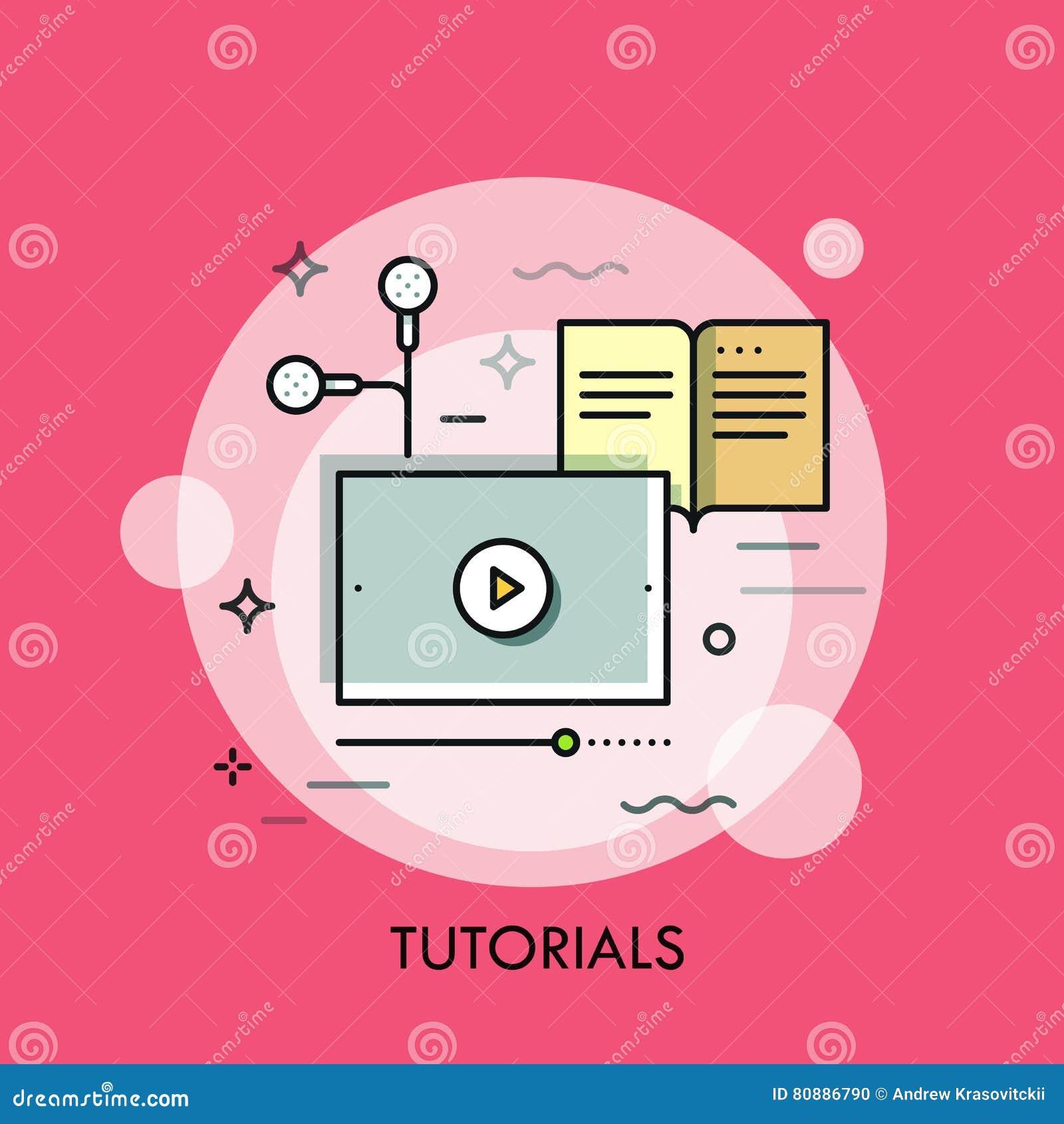 Em linha estudo, ensino à distância, comunicação da Web e conceito da aplicação do ensino eletrónico