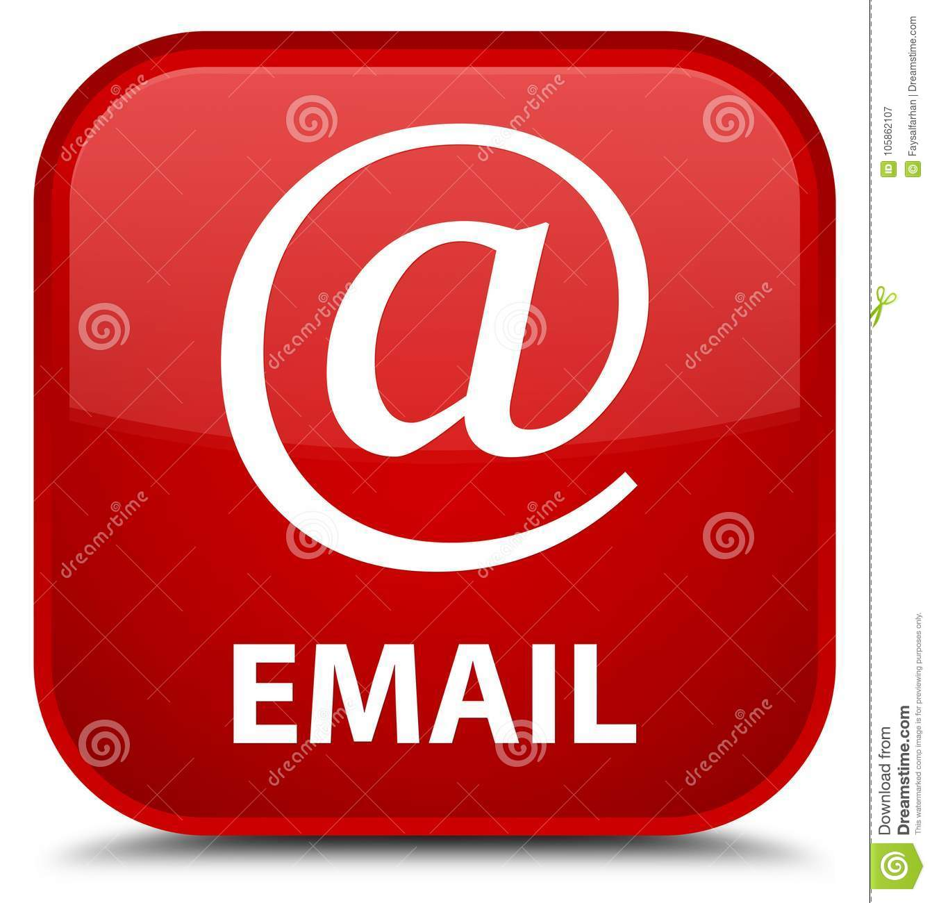 Email (address icon) special red square button