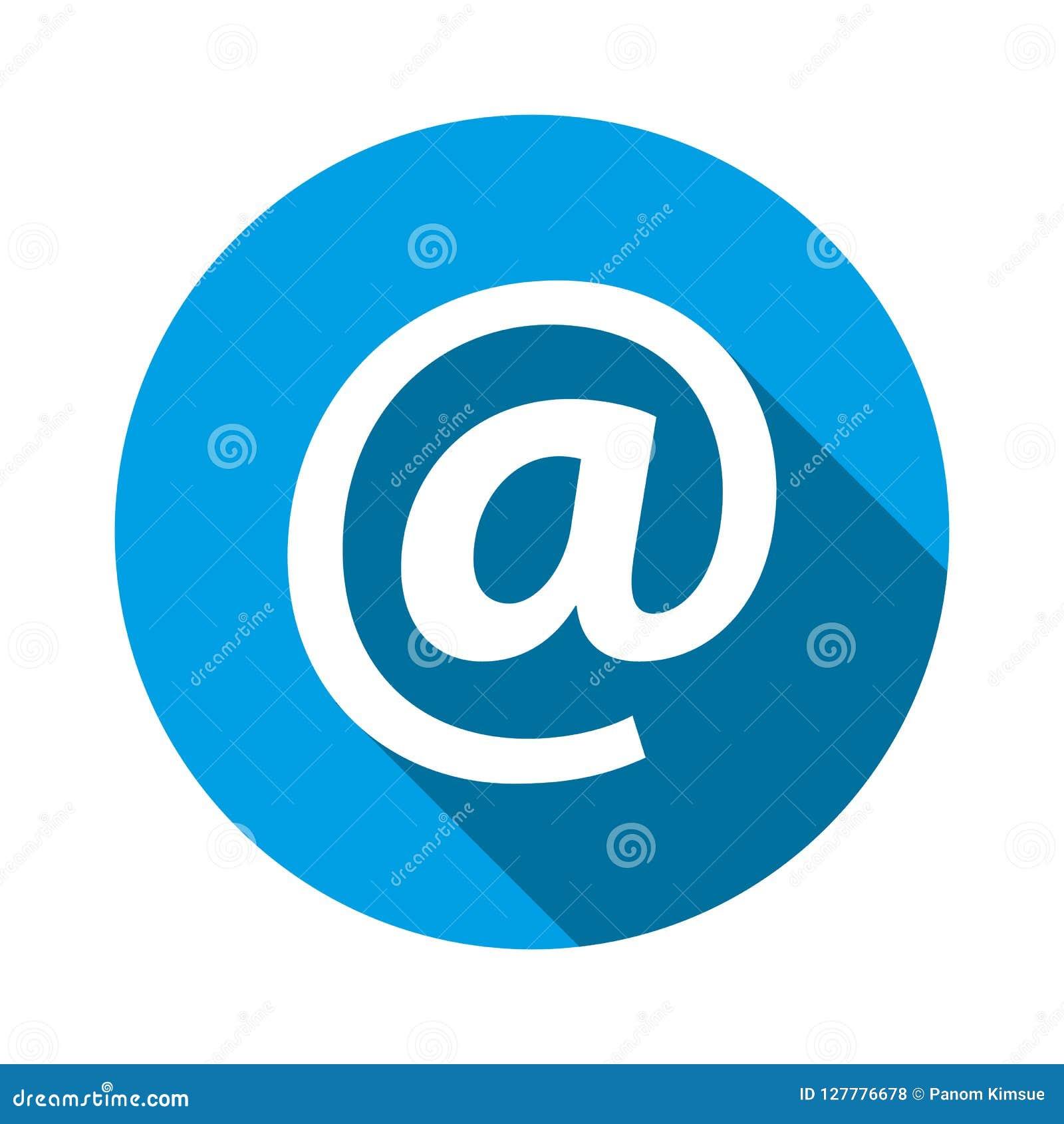 Email address icon. Vector illustration. At sign symbol for graphic design, logo, web site, social media, mobile app, ui illustrat