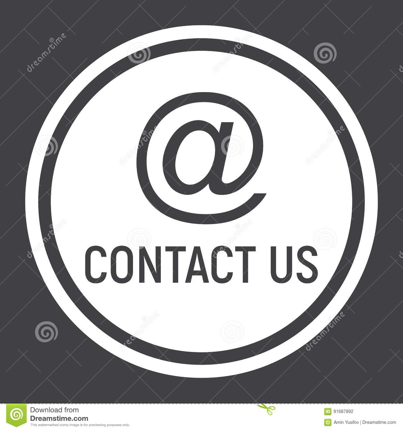 Email address solid icon, contact us and website