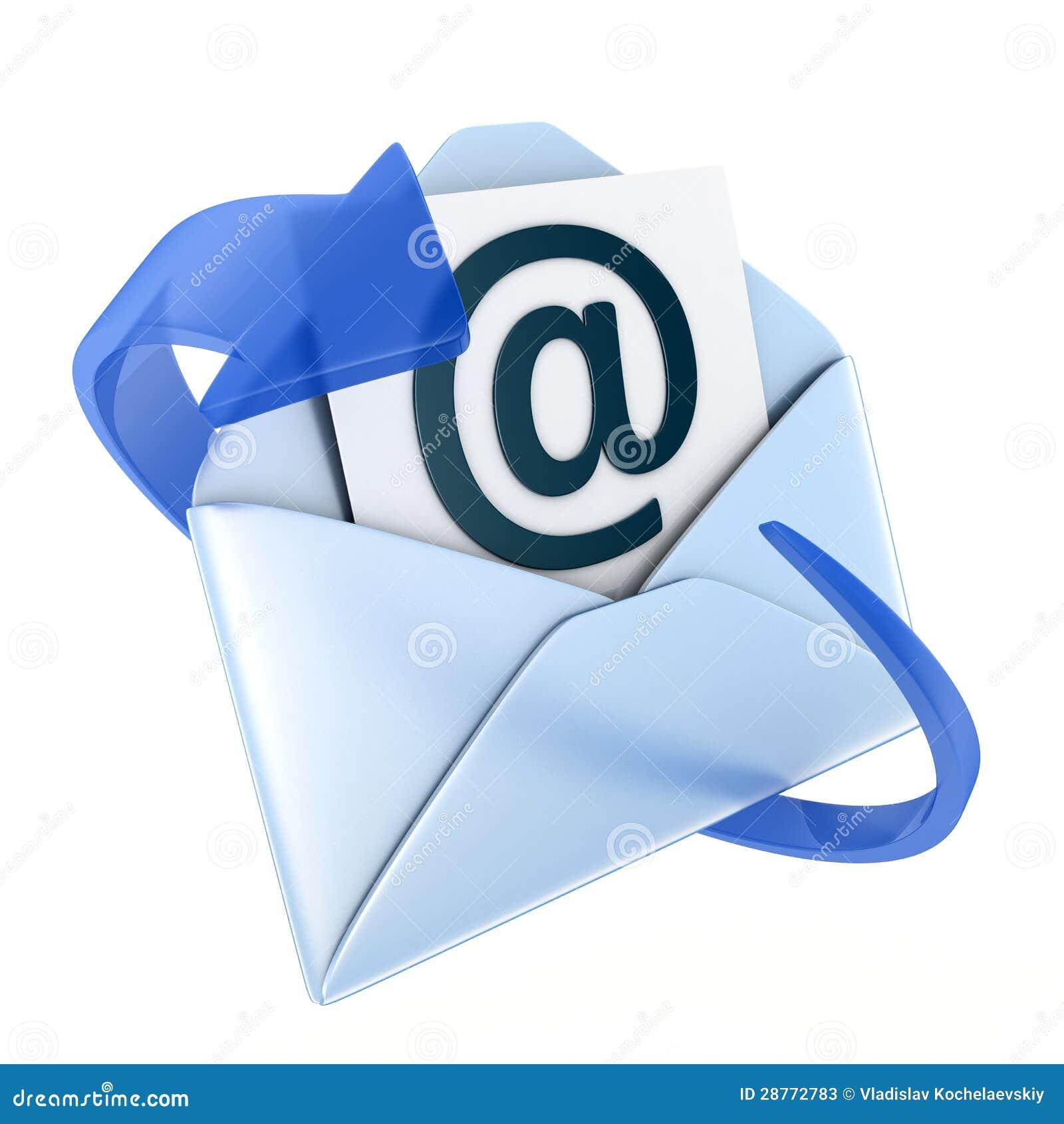 Email Blue Symbol Stock Photos - Image: 28772783