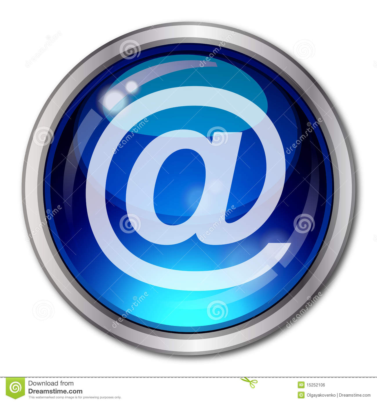 Email Button Royalty Free Stock Image - Image: 15252106