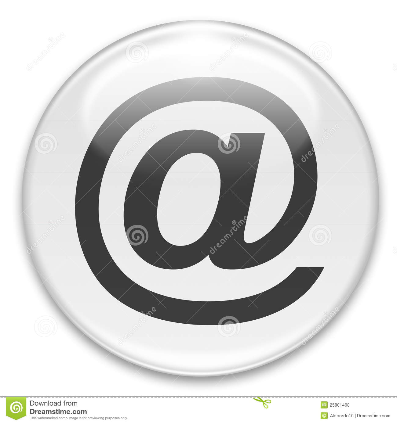 At Or Email Button Royalty Free Stock Photos - Image: 25801498