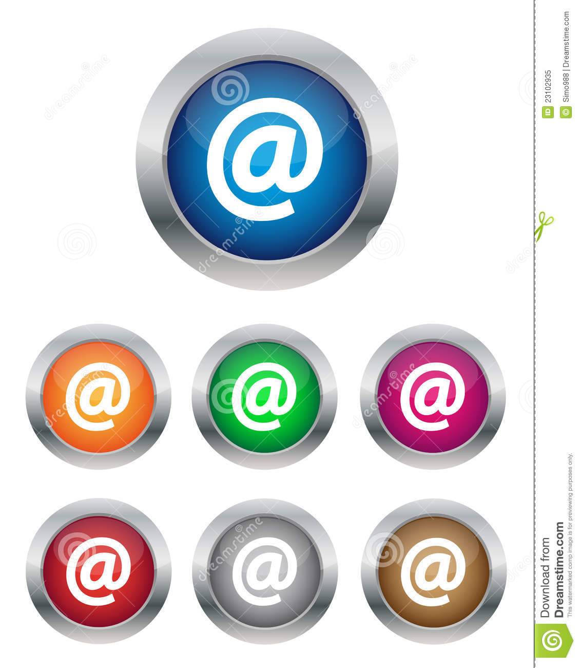 Email Buttons Royalty Free Stock Photo - Image: 23102935