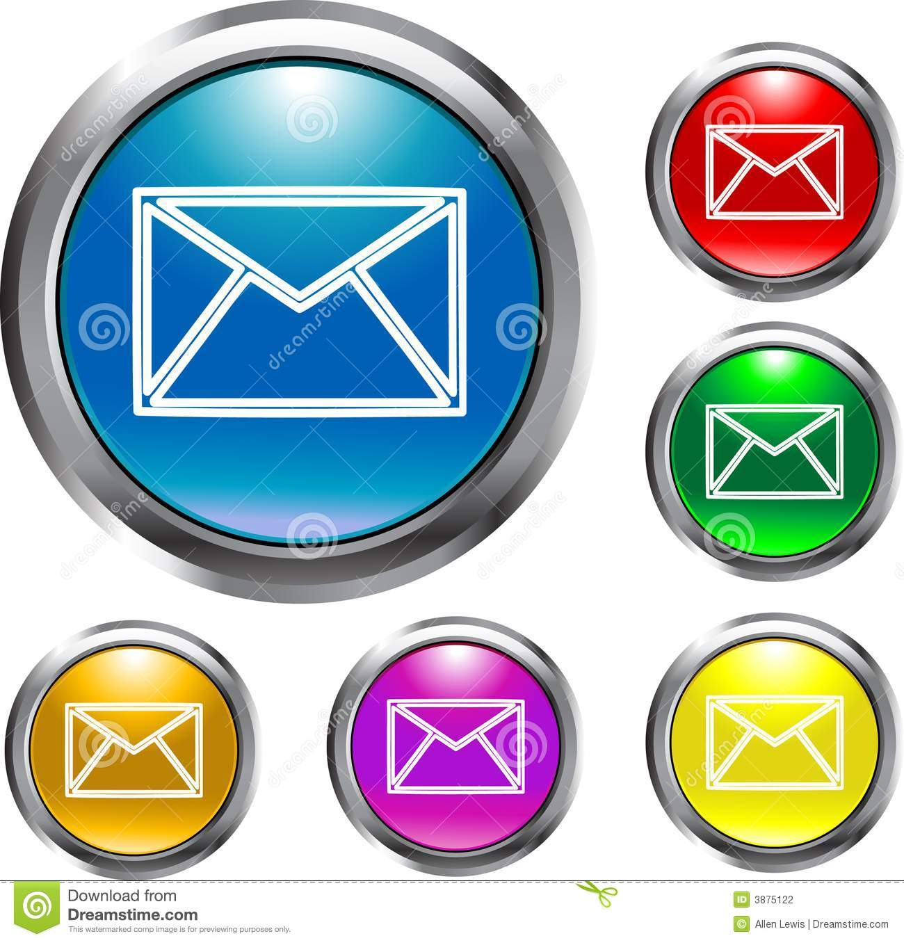 Email Buttons Stock Photography - Image: 3875122