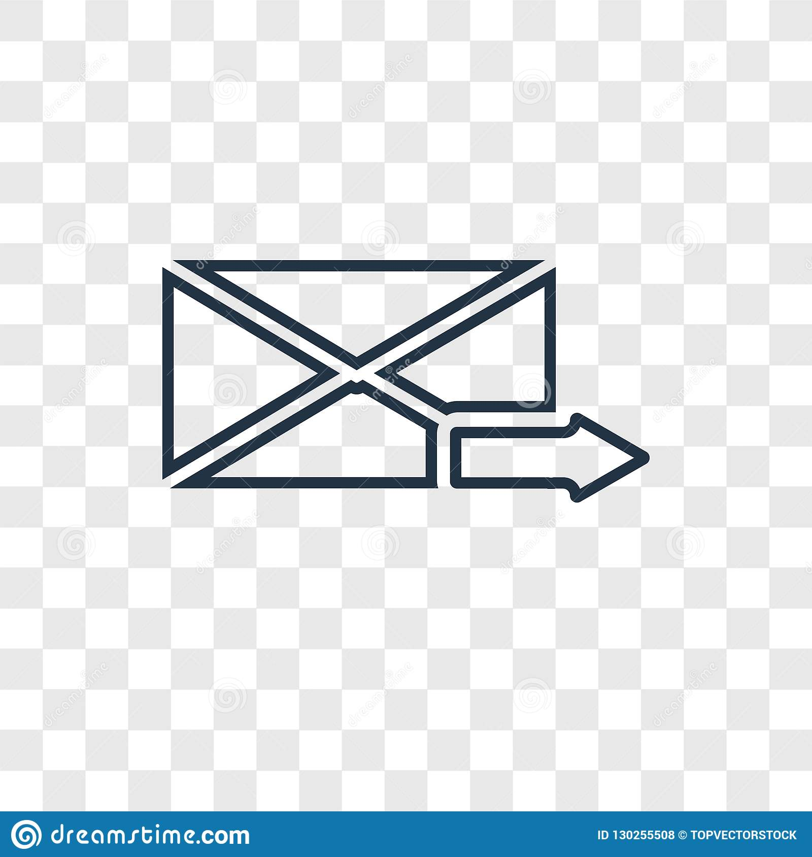 Email Concept Vector Linear Icon Isolated On Transparent Background Email Concept Transparency Logo In Outline Style Stock Vector Illustration Of Mobile White 130255508