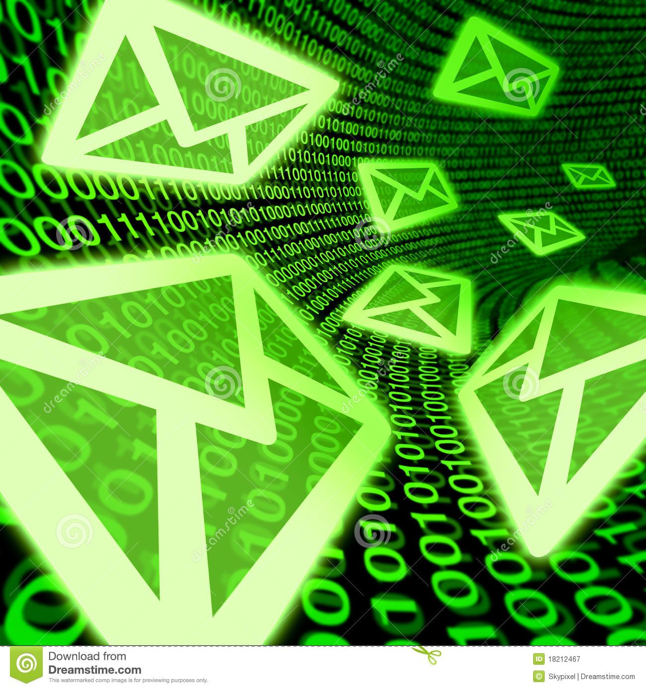 Email E Mail Digital Mail Spam Binary Code Symbol Royalty