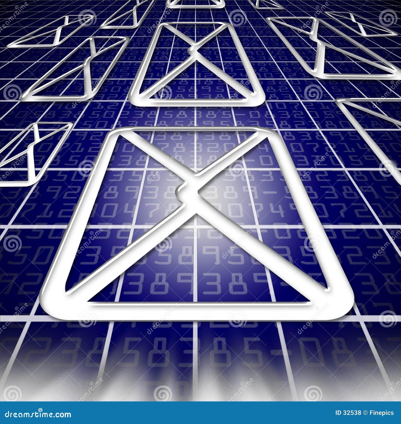 Download Email en Cyberspace stock de ilustración. Ilustración de sonido - 32538