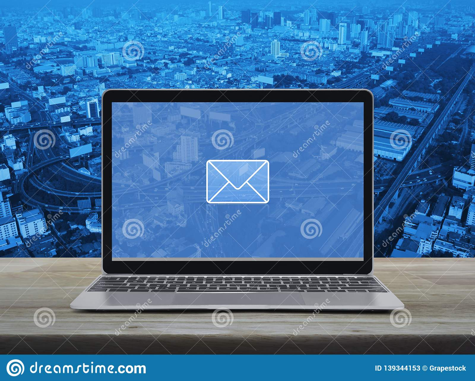 Email flat icon, Business contact us online concept