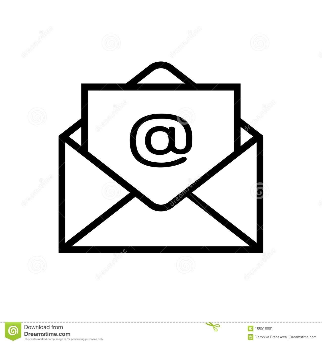 Email icon isolated on white background
