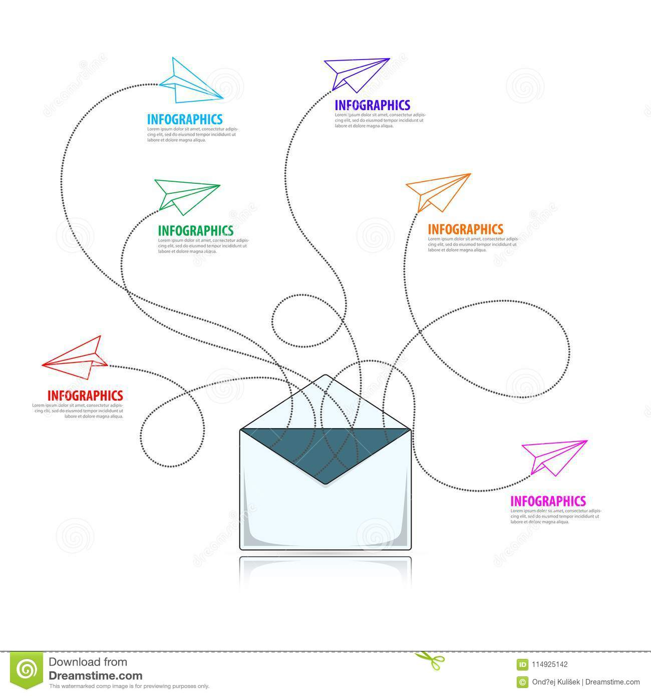 Email Marketing Campaign Infographic Design Template Vector Stock