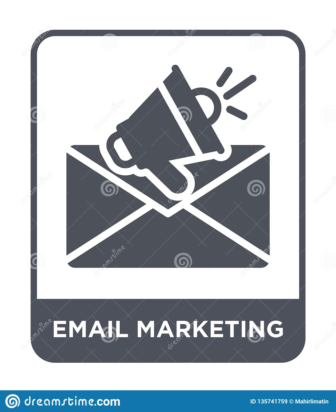 email marketing icon in trendy design style. email marketing icon isolated on white background. email marketing vector icon simple