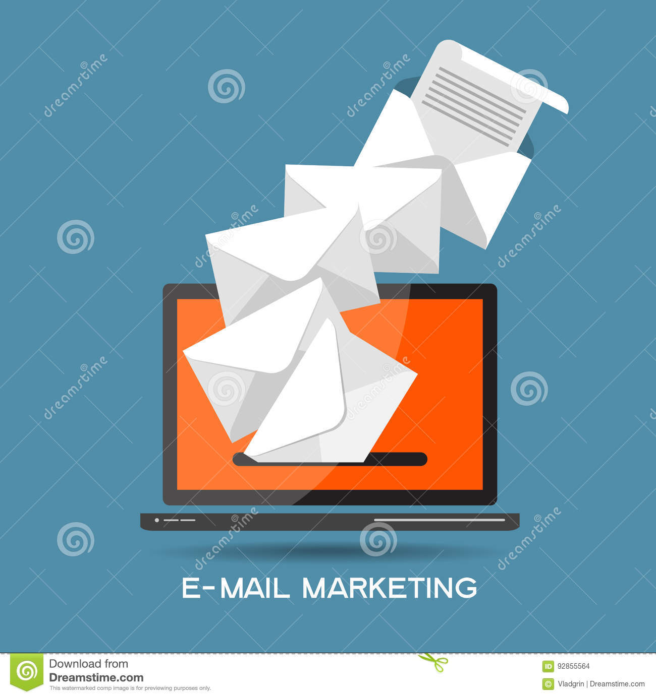 Email Marketing Template Stock Vector Illustration Of Background