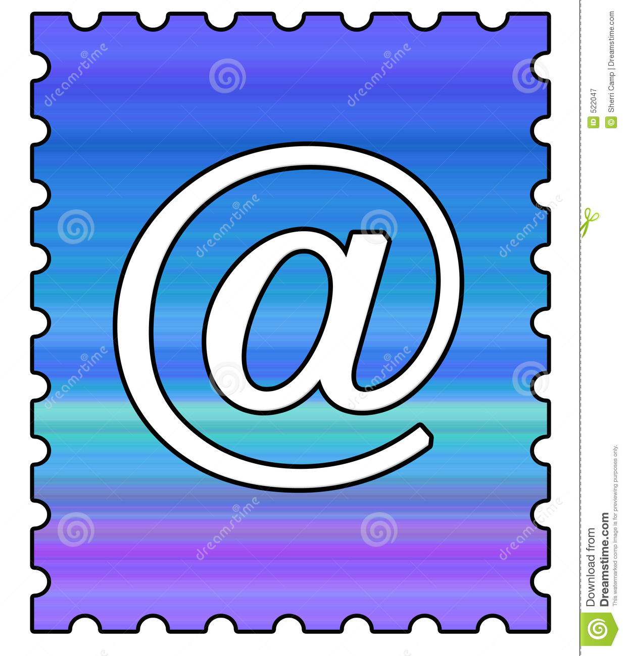 Email Postage Stamp Royalty Free Stock Photography - Image: 522047
