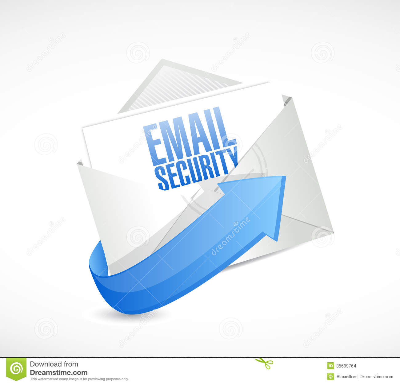 Email Security Envelope Illustration Design Stock Images - Image ...