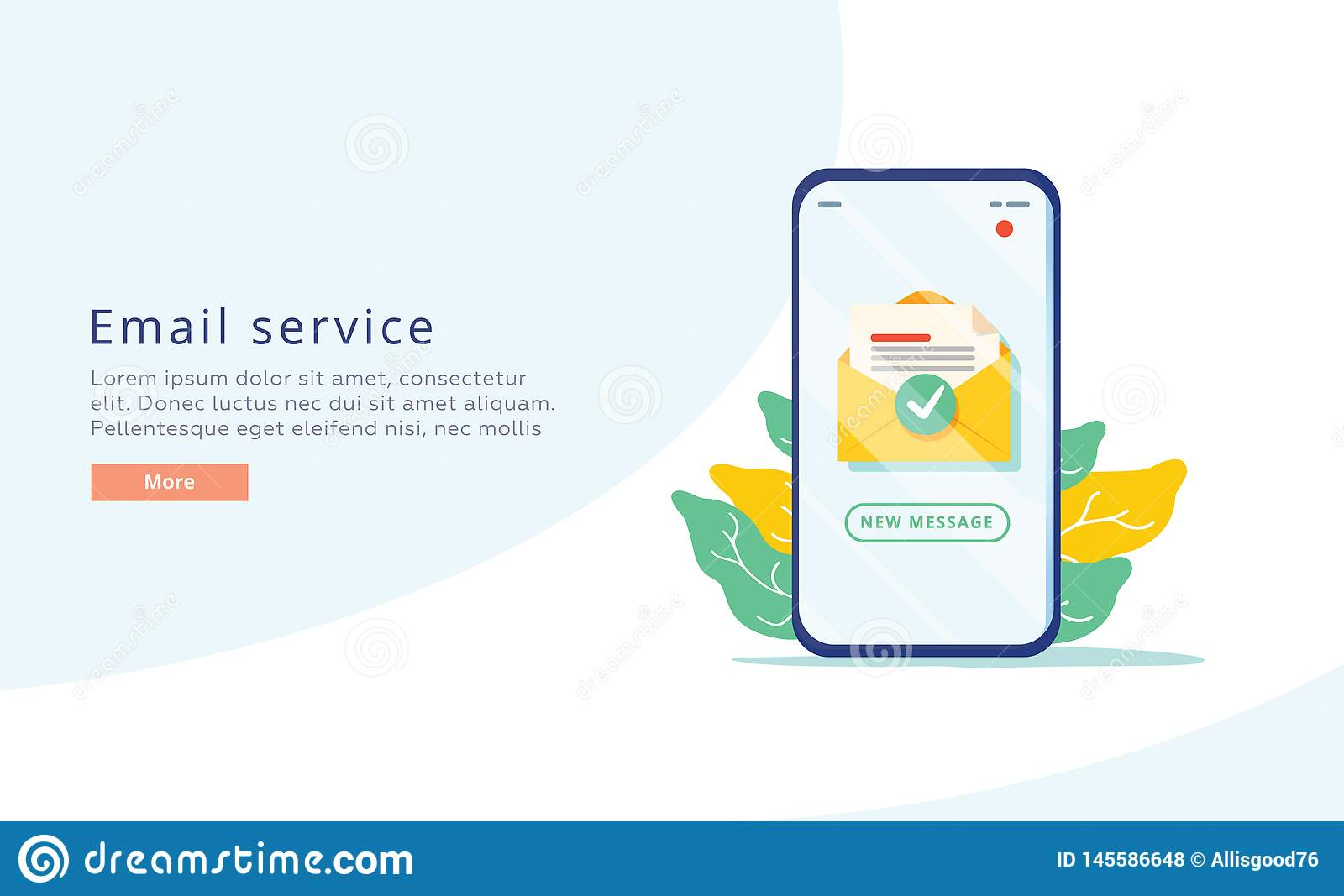 Email service creative flat vector illustration. Electronic mail message concept as part of business marketing. Webmail
