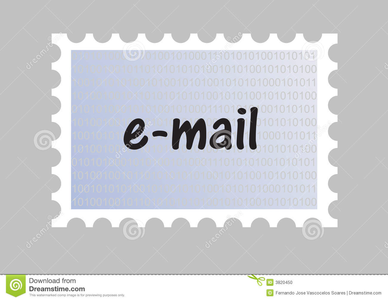 Email Stamp Stock Photo - Image: 3820450