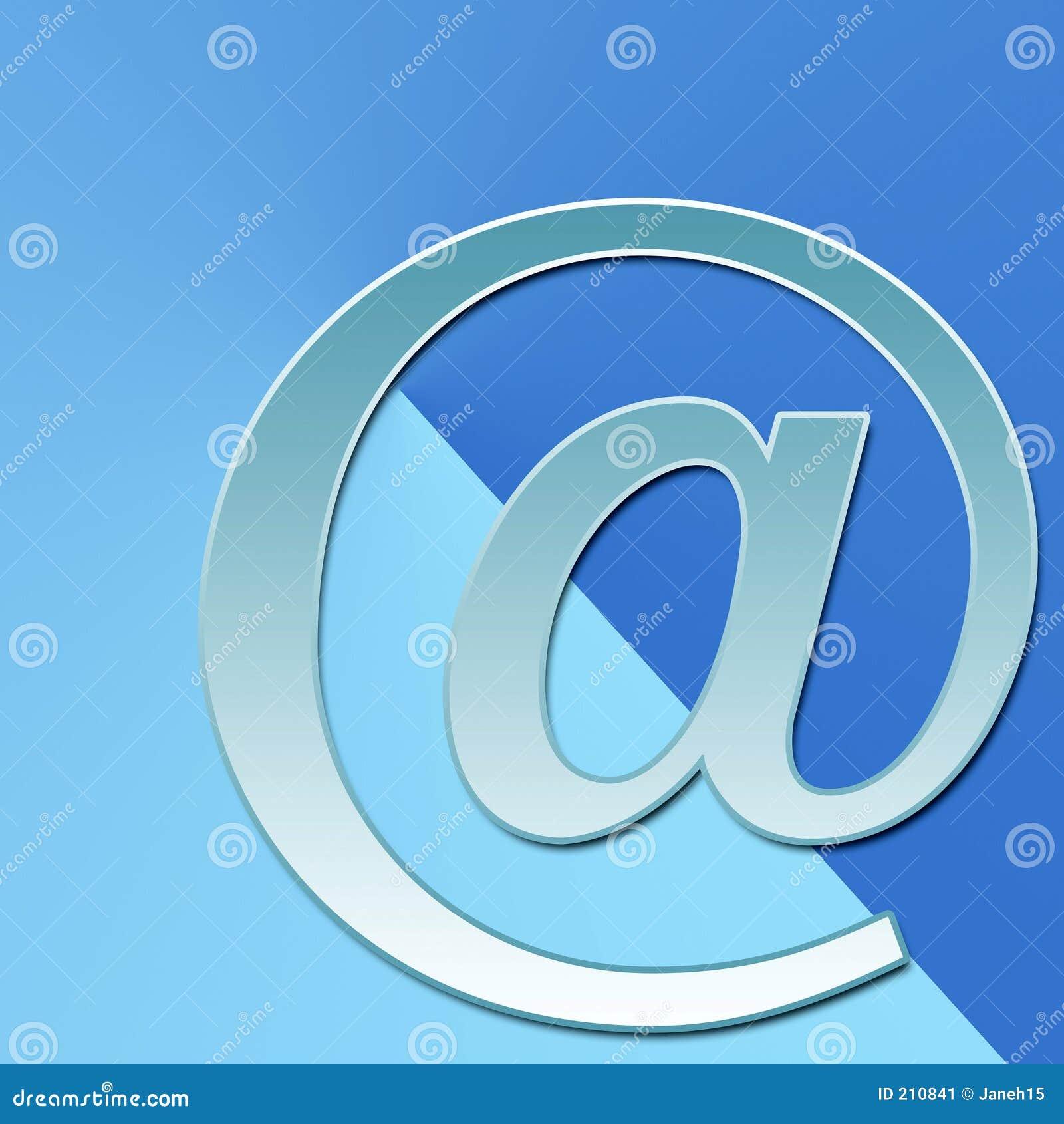 Email sull azzurro